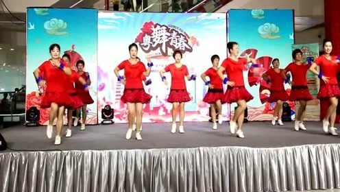 广场舞比赛视频,《曼丽》,华丽舞台激动人心!