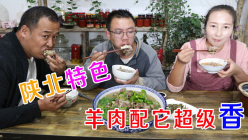 磊哥买只羊腿,春姐炖羊肉,做陕北特色面食圪坨,大家吃过瘾了