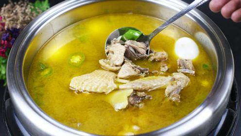 厨师长教你做一道黄焖鸡火锅,只需简单几步,鲜香美味超好吃