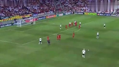 欧冠杯经典葡萄牙2比3惜败德国,C罗难过德意志这一关