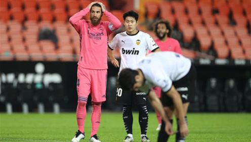 西甲瓦伦西亚4球逆转,皇马后卫3送点1乌龙看懵齐祖!