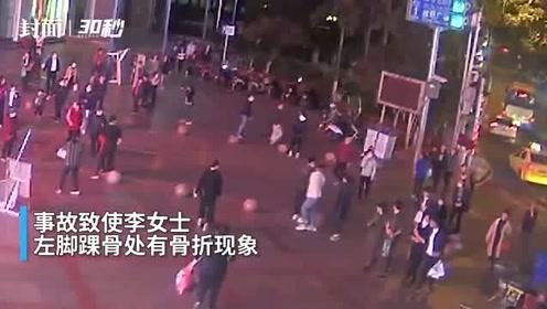 """失控平衡车在步行街乱窜 重庆这位""""贪玩""""男子致1人1车受伤"""