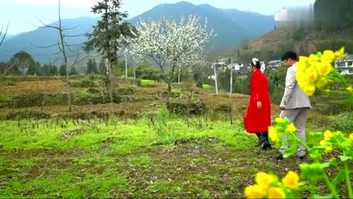 贵州一对新人结婚,在山上游玩,幸福原来如此简单,好羡慕他们