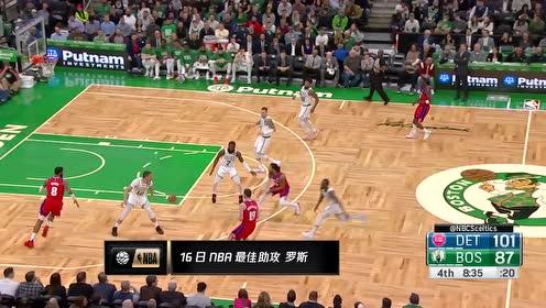 16日NBA最佳助攻 罗斯假动作迷惑三人助飞莫里斯挂筐暴扣