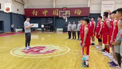 国家男篮集训队入队仪式 杜锋领衔众将宣誓