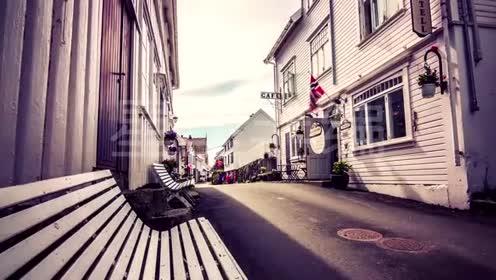 挪威延时摄影美丽自然风景山脉河流瀑布极光实拍视频素材