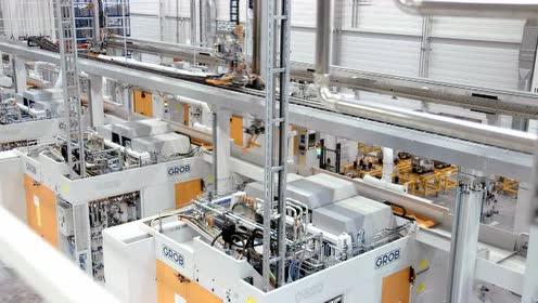 德国明斯特奥迪工厂的格劳博生产线