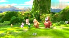 熊熊乐园:大家摘花把花都破坏了,猫头鹰老师很伤心