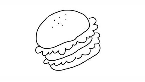 汉堡幼儿亲子简笔画 宝宝轻松学画画