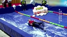 奔跑吧兄弟:没有水的泳池里比赛游泳,陈赫的泳姿好奇葩!