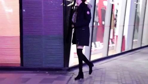 街拍:逛街能走出模特的气势,这些小姐姐做到