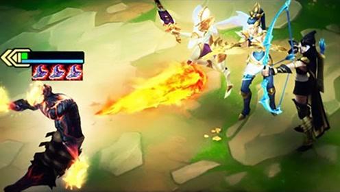LOL:云顶之弈精彩集锦,最强的三星火男套路!