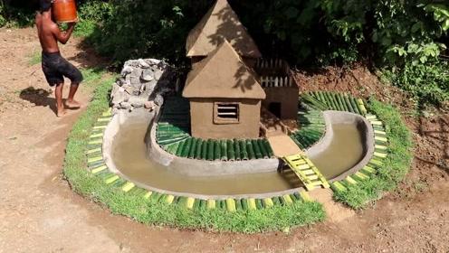 户外建造小别墅泳池