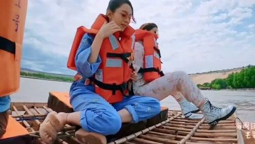 张歆艺躺在黄河上睡觉,像躺在母亲的怀抱