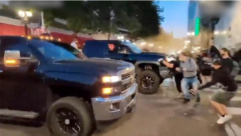 特朗普支持者驾数百辆车集结波特兰与抗议者爆发冲突 期间1人身亡