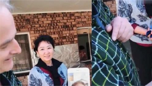 洋女婿和丈母娘视频,接下来的这一幕,丈母娘太逗了!