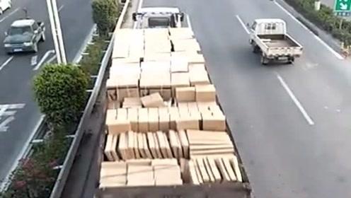 偶遇一辆大货车,看到他装的什么货就知道,这趟不少挣!