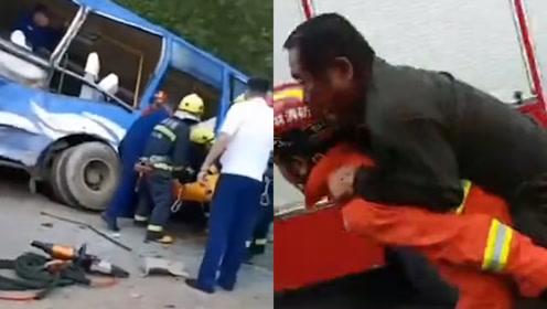 吉林白山一公交与货车相撞 致2死16伤 各部门紧急救援