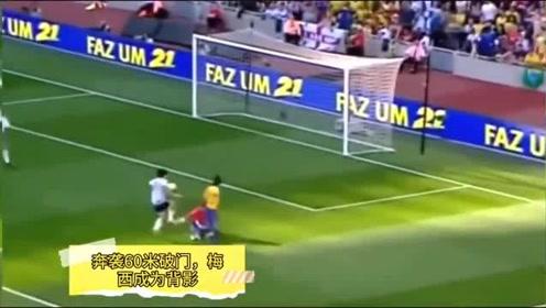 卡卡封神两球奔袭60米破门梅西成背景,欧冠戏耍曼联4人