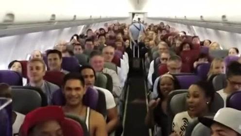 飞机上乘客合唱狮子王主题曲,开口堪比音乐会现场,网友:合唱团集体出游?