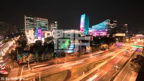 开片网北京夜景延时摄影,中关村大街不愧是科技高速发展的信息路#摄影# #北京旅游# #旅游摄影#