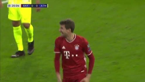欧冠-科曼2射1传托利索世界波 拜仁主场4-0马竞
