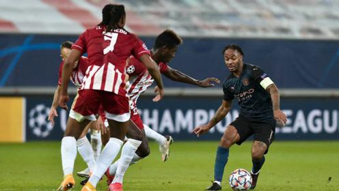 欧冠-斯特林助攻福登制胜球 曼城1-0提前2轮出线