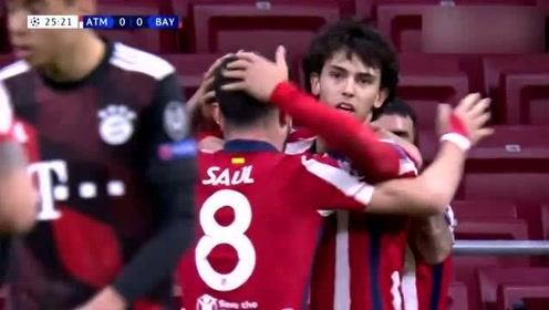 欧冠:马德里竞技1-1拜仁慕尼黑 比赛集锦!