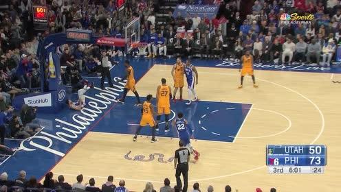 【回放】篮球重启计划 — 19-20赛季爵士94-103费城 哈里斯26+9率队取胜爵士 下半场