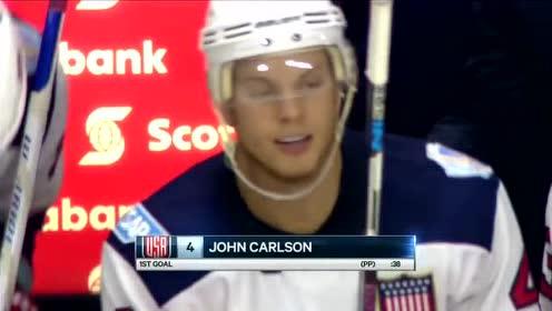 冰球世界杯热身赛集锦 美国vs加拿大