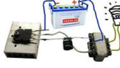 牛人教你怎么做逆变器,电瓶接各种电器,12v变220v!图片
