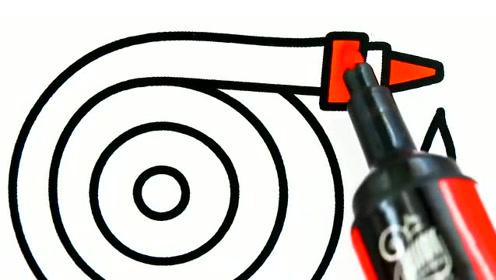 简笔画 消防设备灭火器消防栓