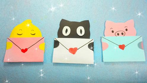 手工diy小动物立体折叠贺卡,做成礼物送给朋友吧