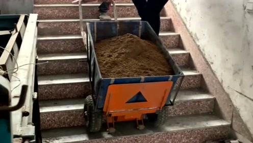 被打工耽误的发明家,发明的上楼推车,500斤沙