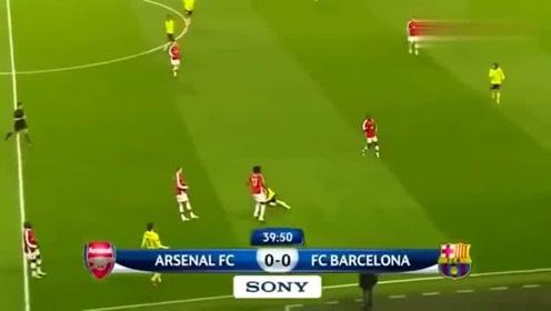 09年欧冠,当年的梅西是有多可怕啊,阿森纳球员都要哭啦