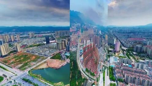 航拍:广东河源繁荣旅游胜地,全景繁华震撼!简直太美了