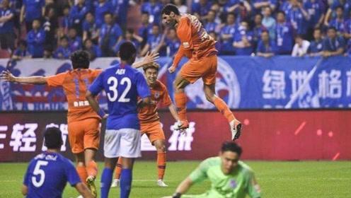 中超第10轮:上海申花1-1山东鲁能,双方护防大战 一场平局最合适。