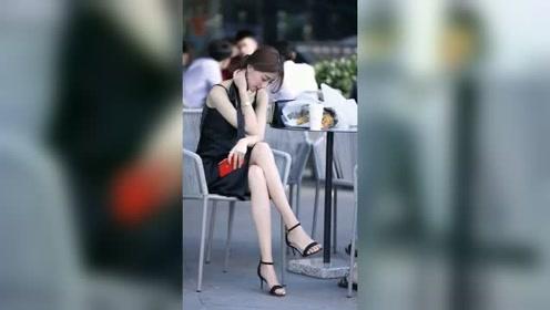 街拍美女,这个小姐姐腿,才叫腿啊