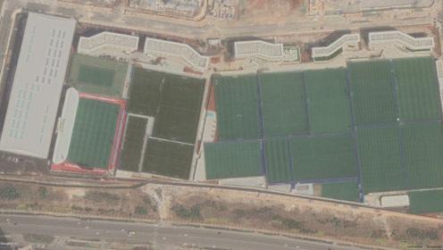 卫星看球场 中超3 大连人足球俱乐部青训基地 广州富力vs上海绿地申花