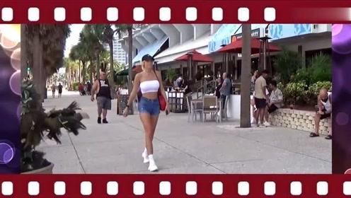 国外恶搞:街头对美女恶搞,几分钟后女孩的举动让小伙高兴坏了