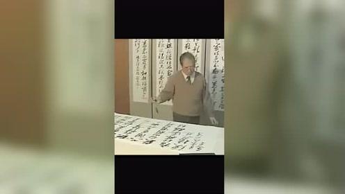 书法名家颜家龙先生书法视频,以侧险为势,以横逸为功