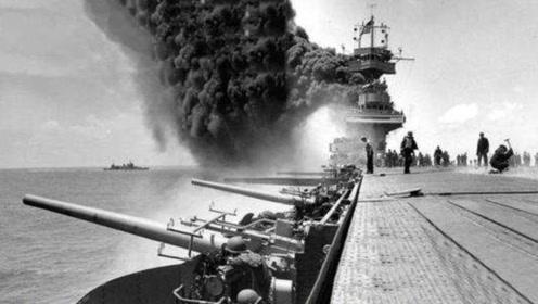 中途岛海战视频,美军一艘航母被日军炸沉,但