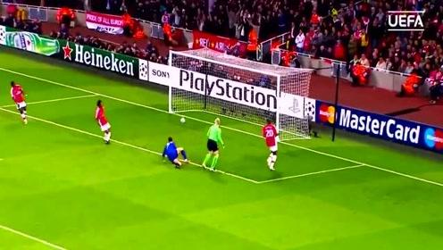 惊天世界波!欧足联官方回顾C罗曼联欧冠5大进球 我看了8遍