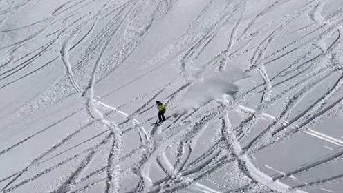 这就是自由的感觉吧!高山上的大神滑雪+自拍欢