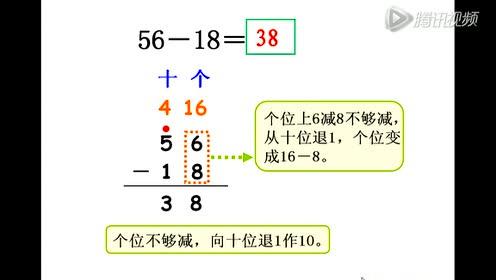 实验教科书一年级数学下册二 20以内退位减法