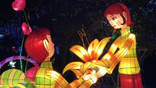 惊艳你的跨年夜!1分钟带你看完西湖花灯图片