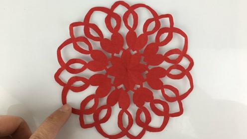 有趣的环形窗花剪纸,无限创意,无限趣味,儿童剪纸视频教程大全