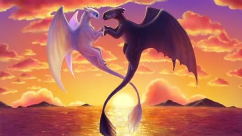 《驯龙高手3》龙王夜煞与光煞的精彩片段,夜煞不会求爱,太搞笑了