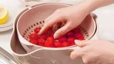 超实用网红洗菜神器,采用双层转轴设计,再也不怕洒出来