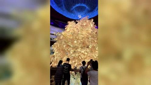 世界赌城澳门,价值一亿美元纯黄金打造的摇钱树,一眼鸿运当头